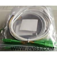 皮线光纤跳线 SC-APC皮线双芯四个头光纤跳线生产厂家_图片