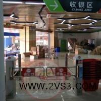 鑫翼通方柱LED灯光摆闸YT-B220超市感应门带灯红外感应_图片