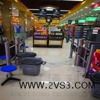 包邮超市感应门进出口器红外感应开门雷达带语音超市感应单向入口_图片