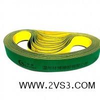 厂家供应尼龙片基传动带 纺织设备工业平皮带 黄绿片基带_图片