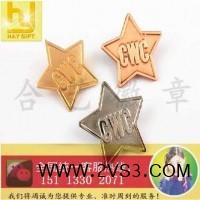 五角星徽章、电镀胸针、公司襟章、冲压徽章订做_图片