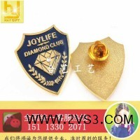 钻石徽章、镶钻胸章、公司徽章、高档襟章_图片