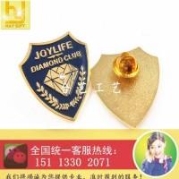 钻石徽章、镶钻胸章、公司徽章、高档襟章