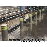 武汉钢精灵路桩 汉口火车站路桩 不锈钢防撞路桩_图片