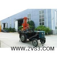拖拉机气动打井机 气动钻井机 拔管机一体气动水井钻机_图片