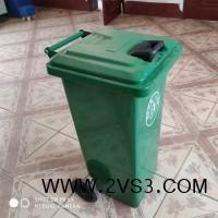 直销户外120升铁质垃圾桶 乡村街道专用垃圾桶_图片