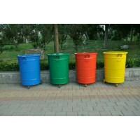 供应 垃圾桶 300升铁垃圾桶 环卫挂车圆桶
