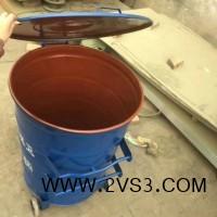 供应 垃圾桶 300升铁垃圾桶 环卫挂车圆桶_图片