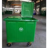 定制 垃圾桶 660升铁垃圾桶 户外加厚挂车方桶