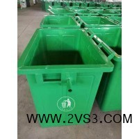 定制 垃圾桶 660升铁垃圾桶 户外加厚挂车方桶_图片