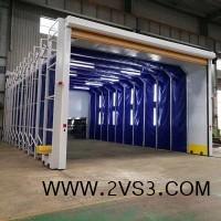 移动式喷漆房/打磨房 集中处理安全性高_图片