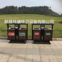 定制批发 塑木果皮箱 钢木奥运桶 木条垃圾桶