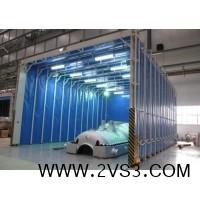 移动式伸缩喷漆房 工业车间喷漆轨道式移动伸缩房_图片