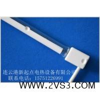 北京玻璃热熔机用半镀白卤素加热管_图片