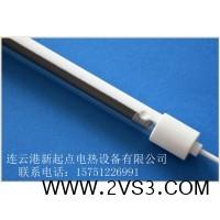 节能型设备半镀白全编织石英加热管 节能型设备透明全编织石英加热管_图片